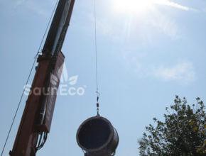 Tonnensauna transport bestellen Saunafass Fasssauna Holz Saunahaus bestellen