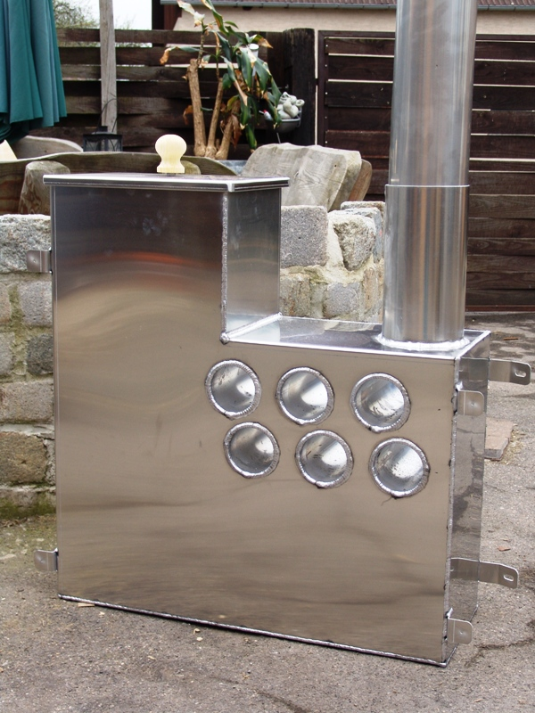 holzbeheizt innenofen 45kw f r badetonne badebottich aluminium. Black Bedroom Furniture Sets. Home Design Ideas