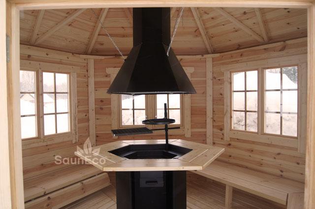 grillpavillon gartenhaus 9m aus fichte f r 10 personen grill. Black Bedroom Furniture Sets. Home Design Ideas