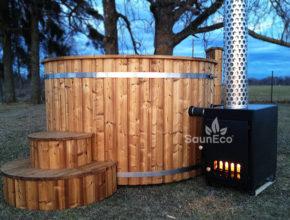 Thermoholz Badetonne Badezuber Saunafass Fass-sauna aus Holz Sauneco
