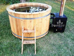 Badezuber Badetonne Badebottich aus Holz Sauneco