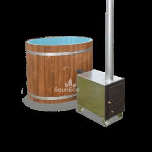 Mini Hot Tub Bath Barrel from Sauneco