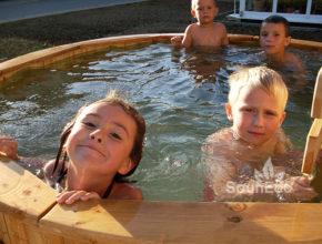 Badetonne Badefass Badezuber aus Holz Sauneco