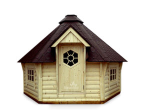 Holz Gartenhaus Grillkota Grillhaus aus Holz Sauneco
