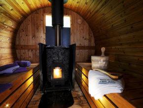 Holz Tonnensauna Saunafass Badezuber Badefass Badebottich aus Holz Sauneco