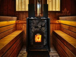 ThermoHolz Tonnensauna Saunafass Badezuber Badefass Badebottich aus Holz Sauneco