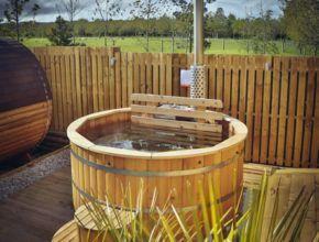 Holz oval Badetonne rund holz Badezuber Badebottich aus Holz Badefass Sauneco