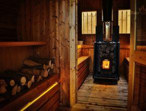 XL Tonnensauna Saunahaus Saunafass Gartensauna aus Holz Sauneco